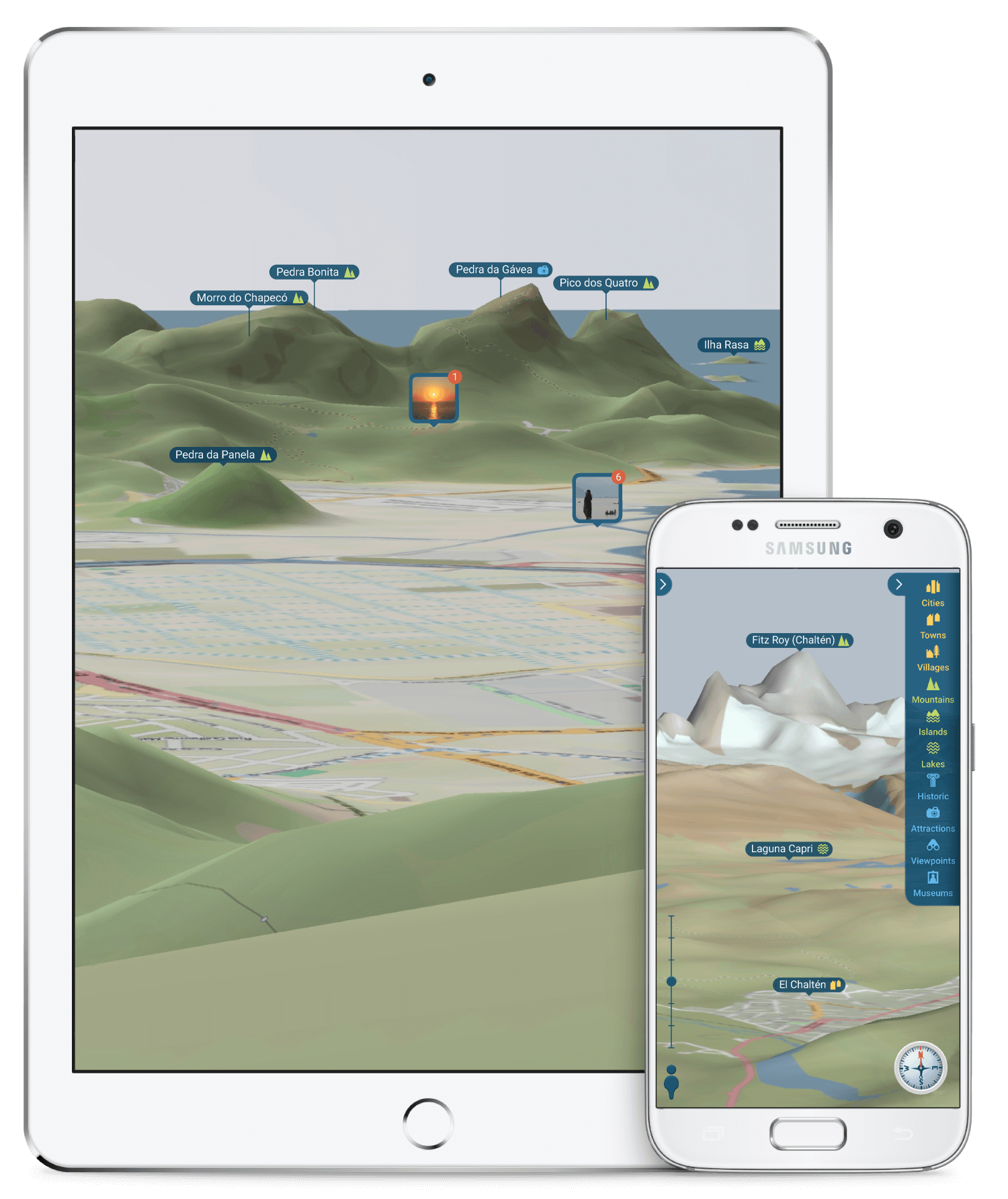Built with Qt - eyeMaps - augmented reality 3D maps - tablet